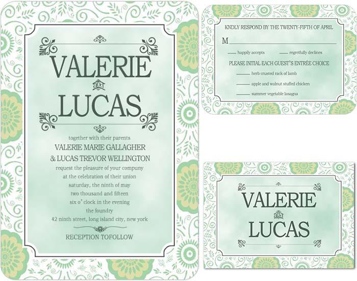 dazzling wedding invitations for wonderland wedding party