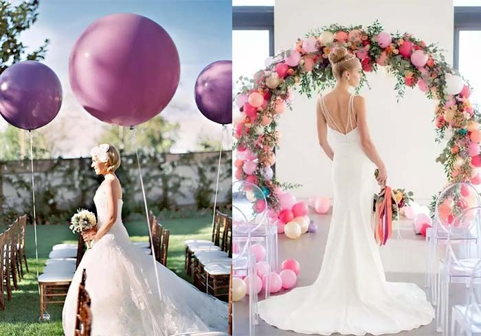 decorate ceremony area with balloons