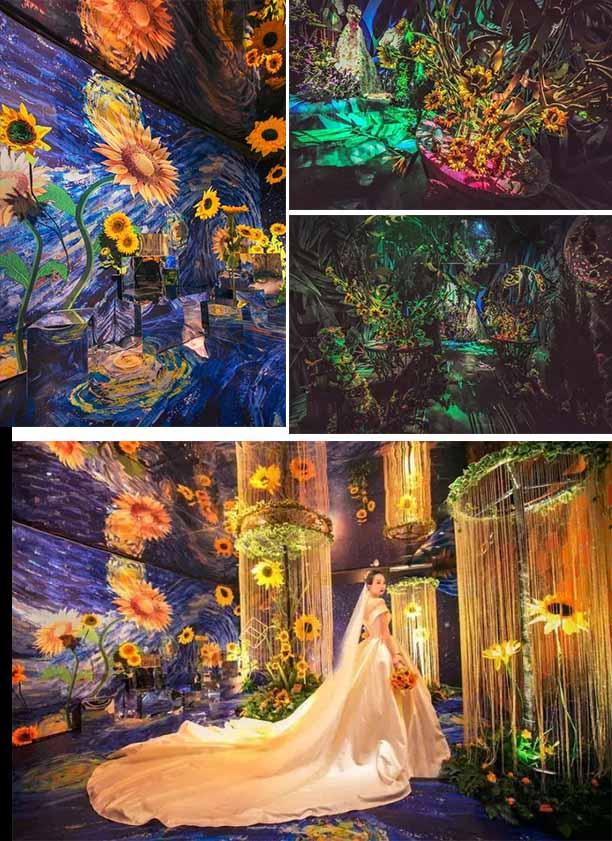 fair tale artdeco sunflowers wedding decorations