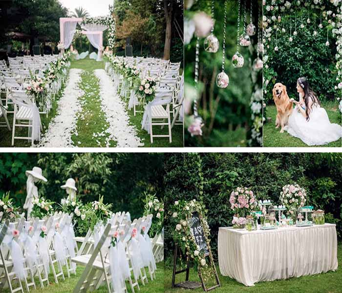 fairy tale lawn wedding inspirations