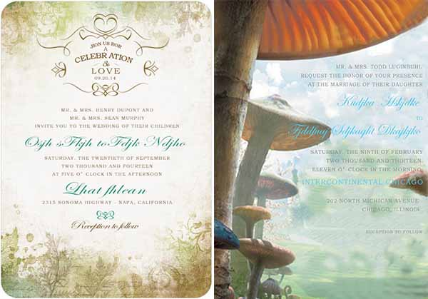 fairytale forest wedding invitations at happyinvitation.com