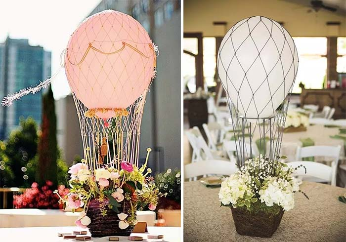 fire balloons wedding centerpieces decoration