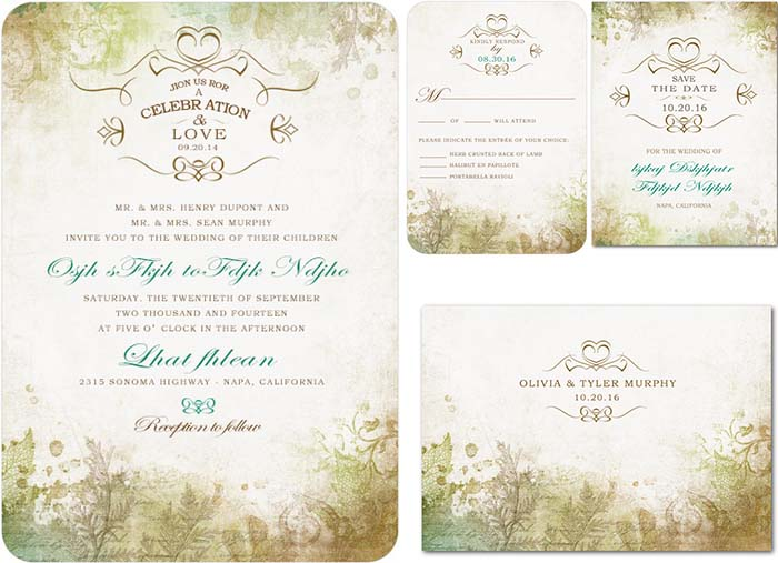 Camp wedding archives happyinvitation invitation world forest vintage wedding invitations for outdoor wedding stopboris Choice Image