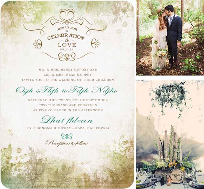 Forest Themed Wedding Invitations: Creative Ideas Of Woodland Wedding