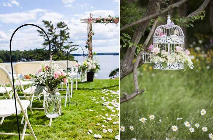 fresh flowers for garden wedding