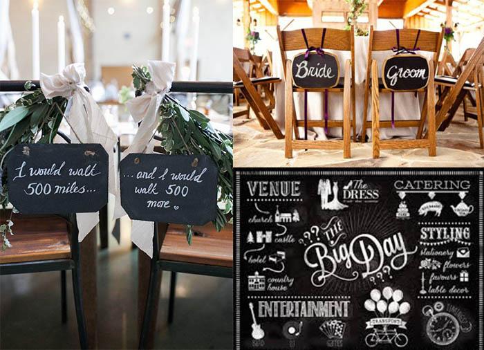 funny chalkboard wedding