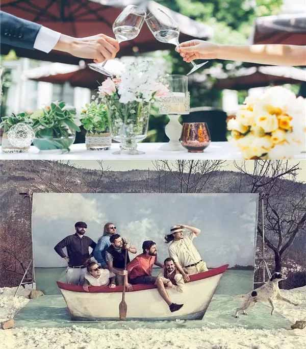 funny scene for wedding photo area
