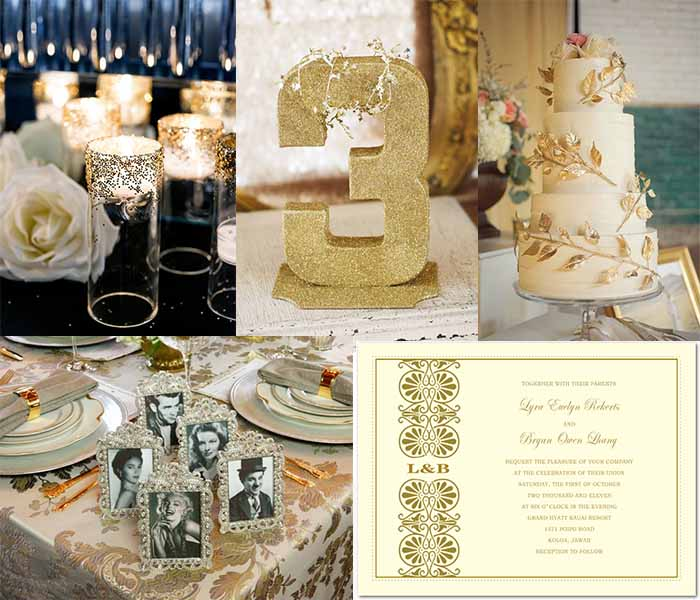 golden age themed wedding