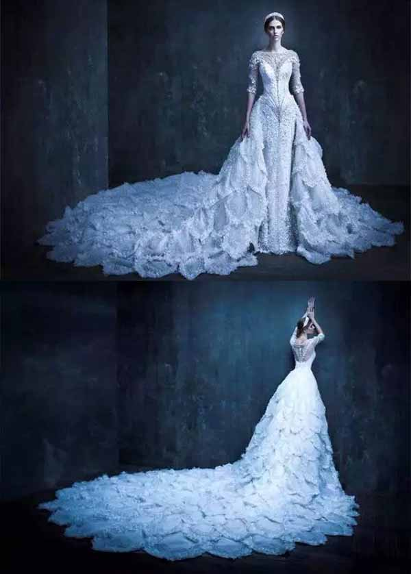 gorgeous crystal wedding dresses