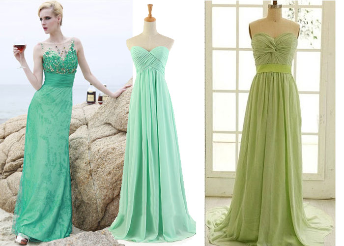 green dresses for spring wedding
