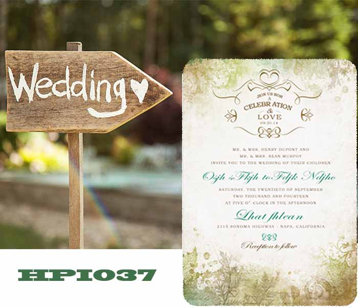 invite wedding guest with wedding invitations HPI037