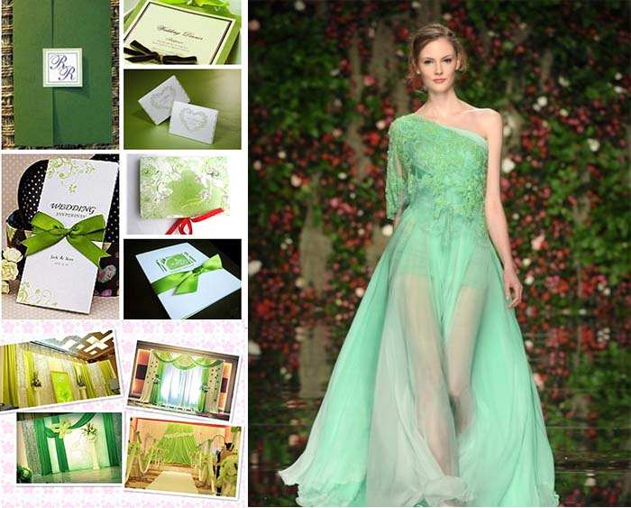 green spotlight on spring weddind
