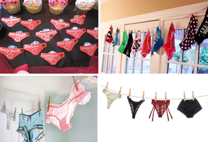 guess underwear game for bridal shower