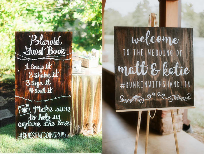 hashtag slice for rustic wedding
