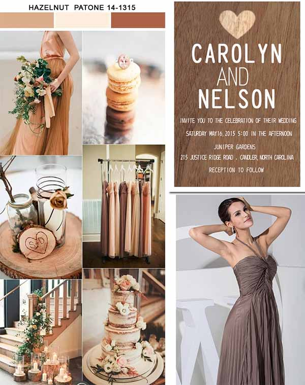 wedding inspiration of hazelnut color wedding