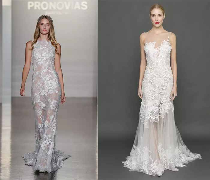 hollow out wedding dresses 2017