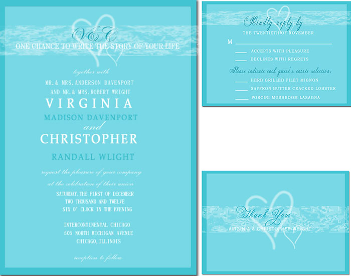 icy blue wedding invitations for fire and icy themed wedding
