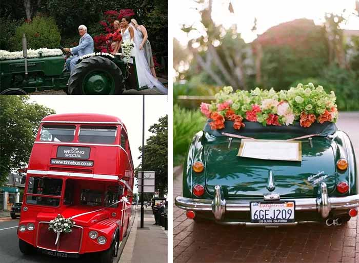 interesting wedding cars