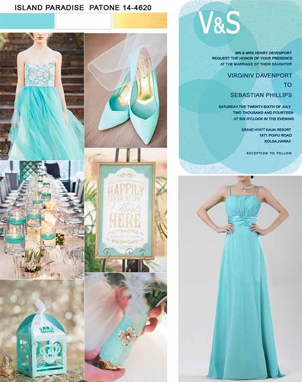 island paradise wedding party inspiration