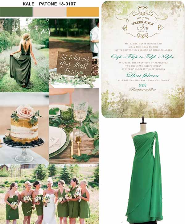 kale color party inspirations of wedding