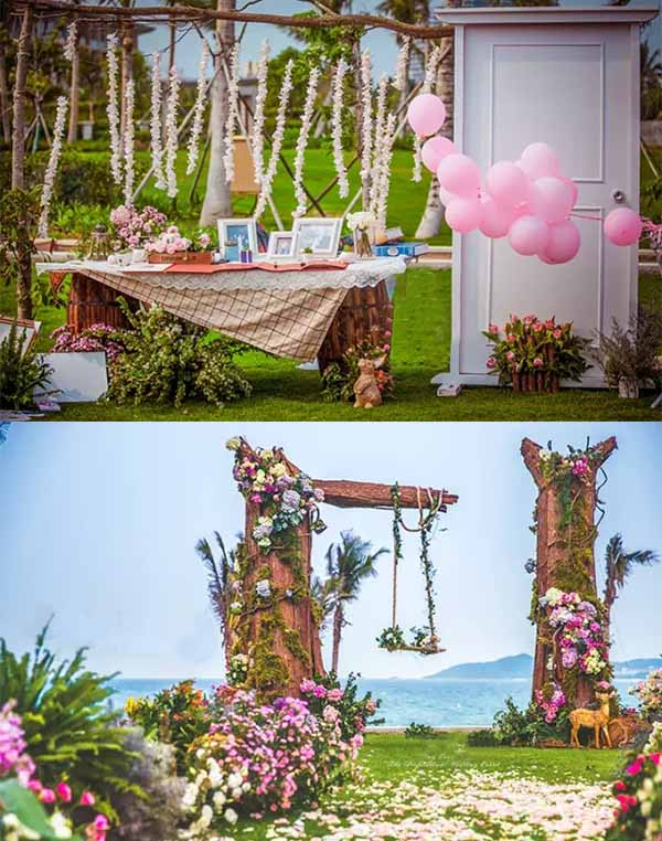 point ideas of a fairytale wedding party