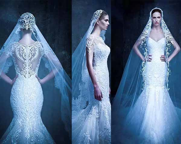 lace hollow wedding dresses