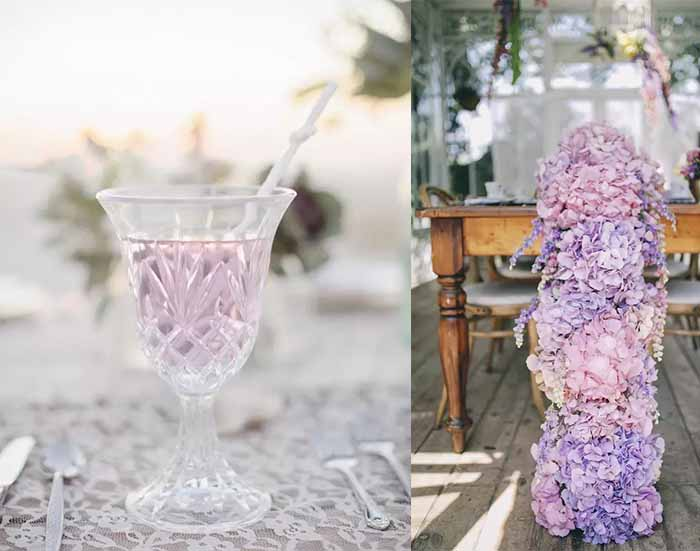 lavender and lemon drink for summer wedding