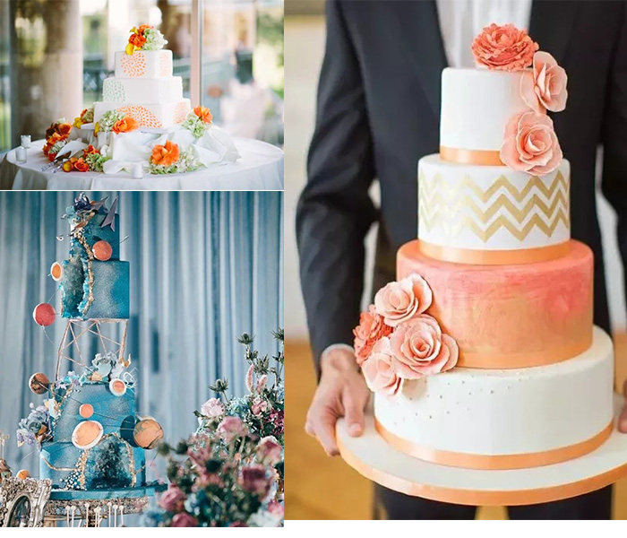 living coral in wedding cakes