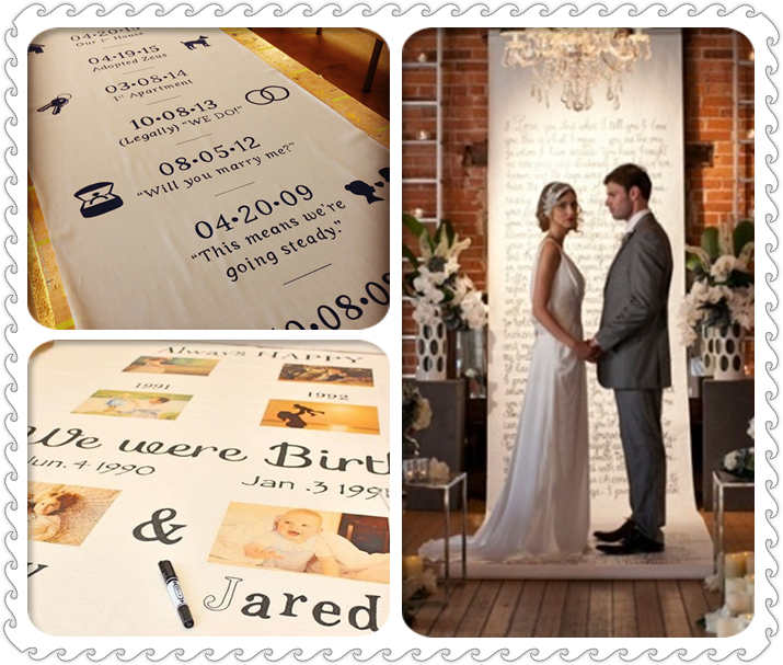 love story aisle runner