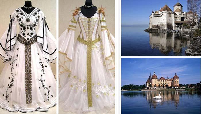 meidieval wedding dresses