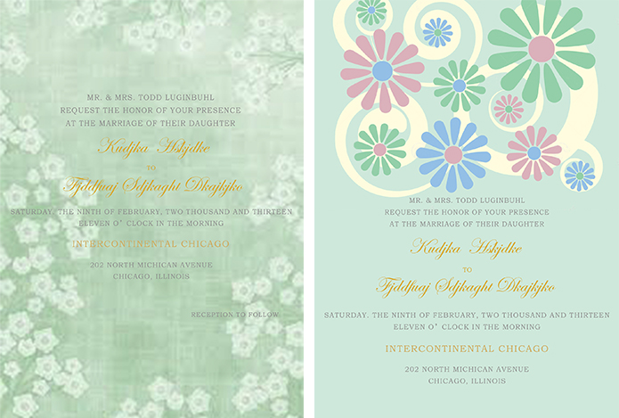 Inspired Collections for Mint Green Themed Wedding Party