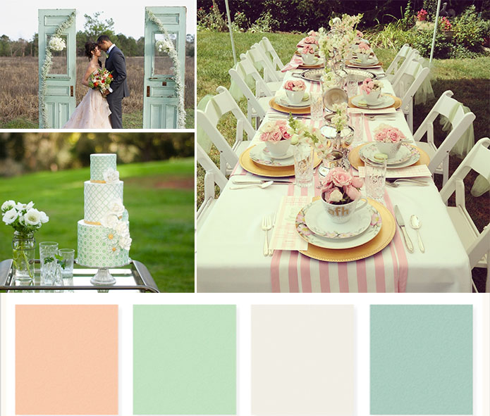 Tips Of Themed Wedding- Mint Green Wedding Party