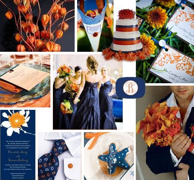 Ideas For Navy Blue Color Themed Wedding