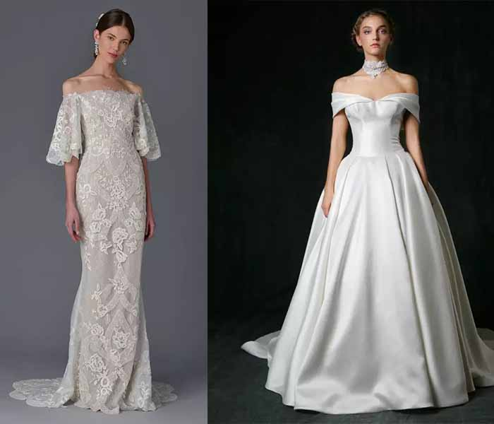 off the shoulder wedding dresses 2017