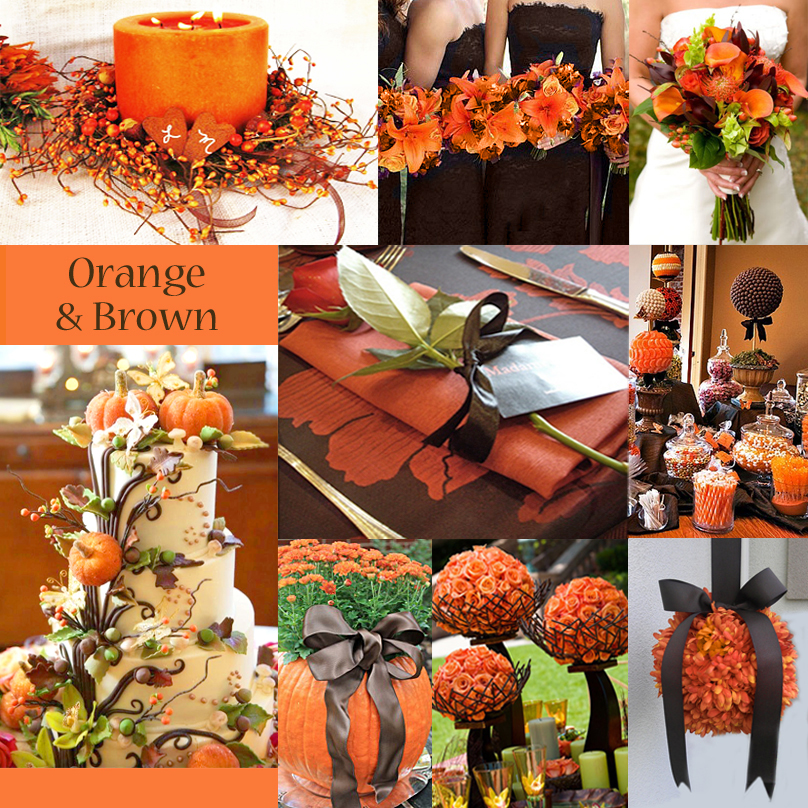 Trending orange wedding color ideas for fall 2014 for Autumn wedding decoration ideas