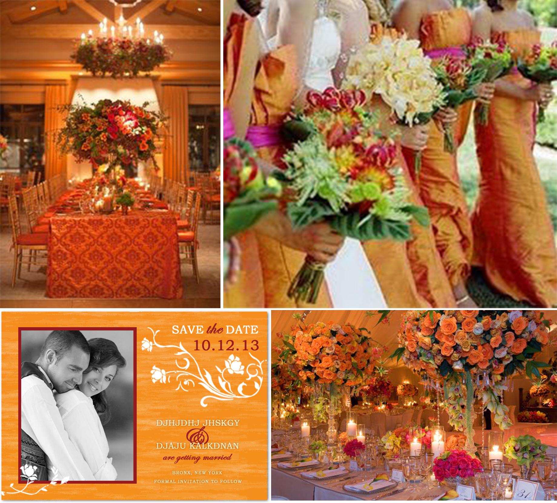 Orange Color Wedding Ideas For 2014 Fall Wedding Party