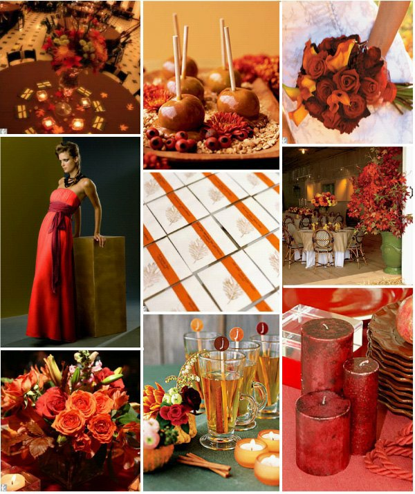 October Outdoor Wedding Ideas: PERFECT FALL WEDDING COLOR PALETTE IDEAS 2014 TRENDS