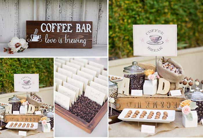 personal touch coffee theme wedding