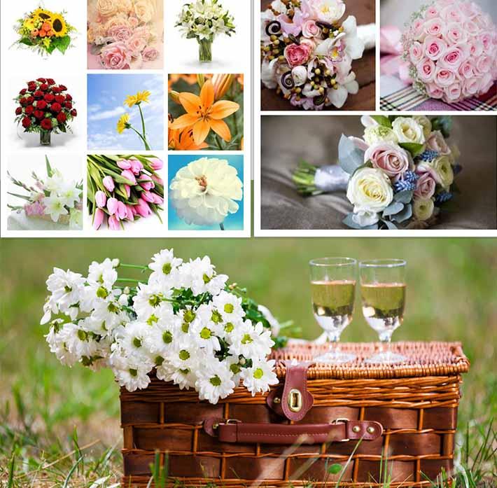 picinic wedding flowers