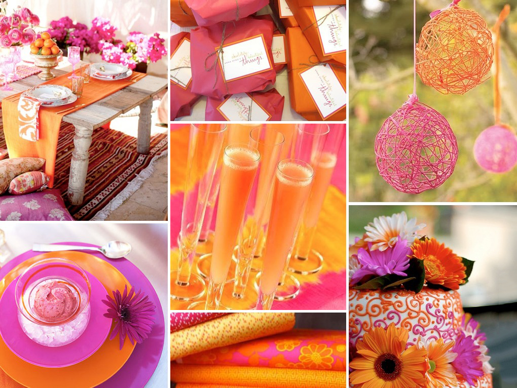Fuschia And Orange Wedding Invitations: TRENDING ORANGE WEDDING COLOR IDEAS FOR FALL 2014