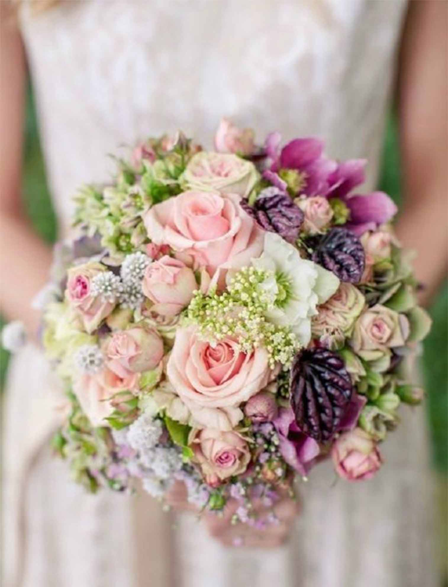 pink rose flowers wedding bouquets