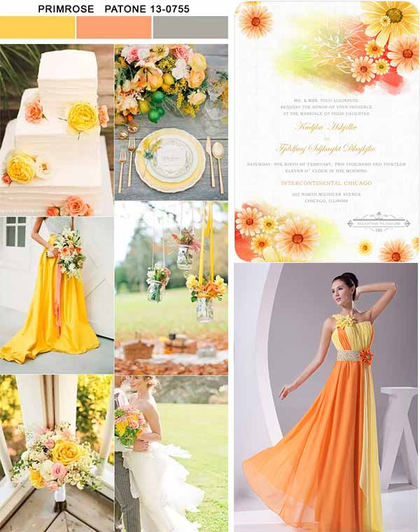 primrose  wedding color inspirations