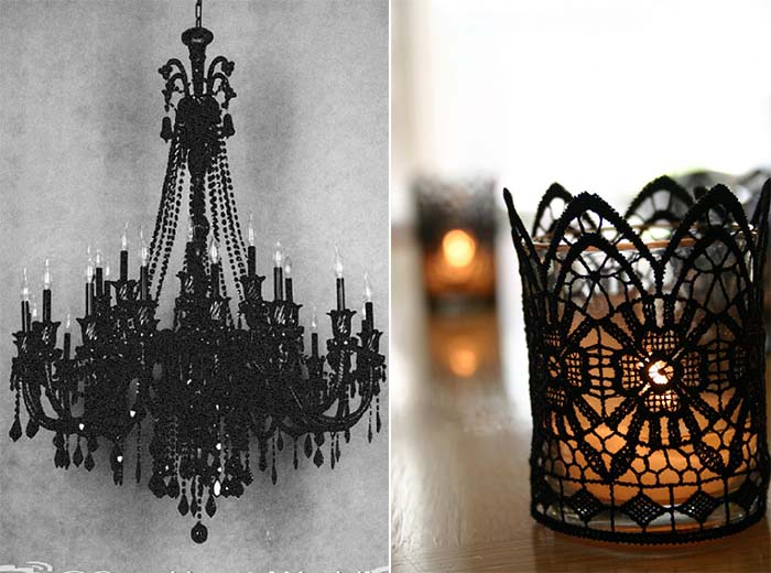 prominent candlelight on gothic wedding