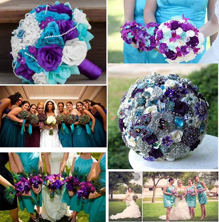 Funny Ideas Of Purple And Teal Color Themed Wedding