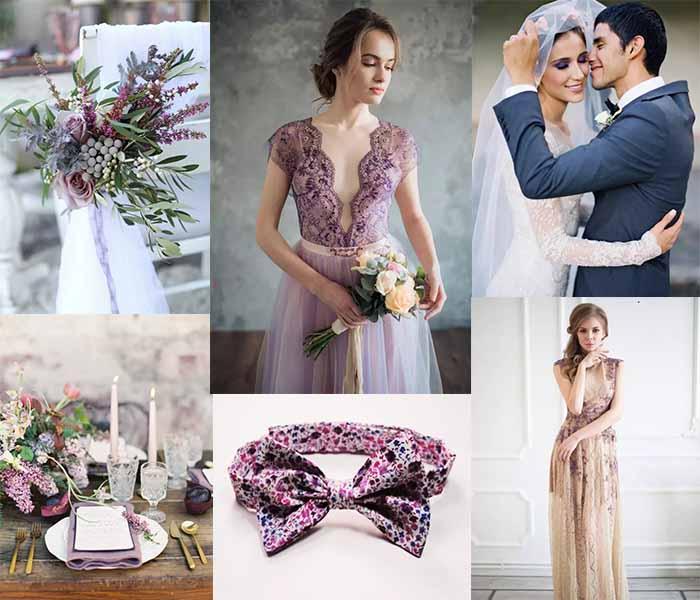 purple in wedding party