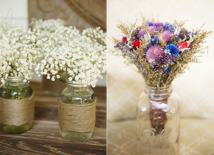 special rustic bouquets for bridesmaids