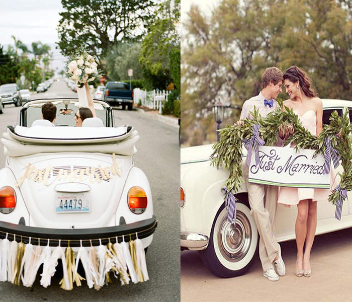 special wedding car decoration