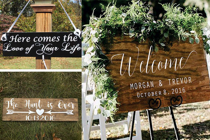 special wedding signs
