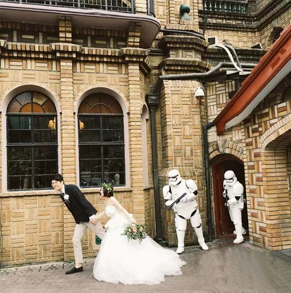 star war themed wedding party