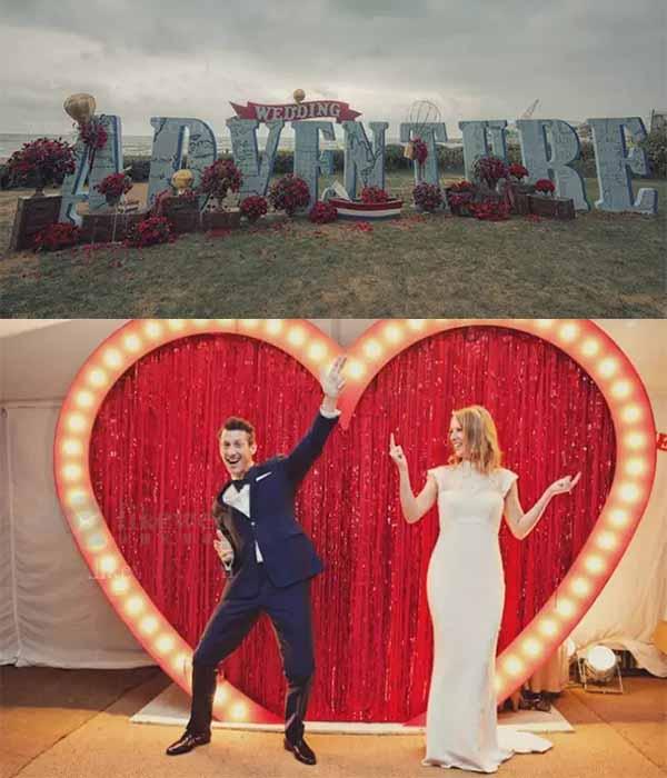 stereo background wedding photo area